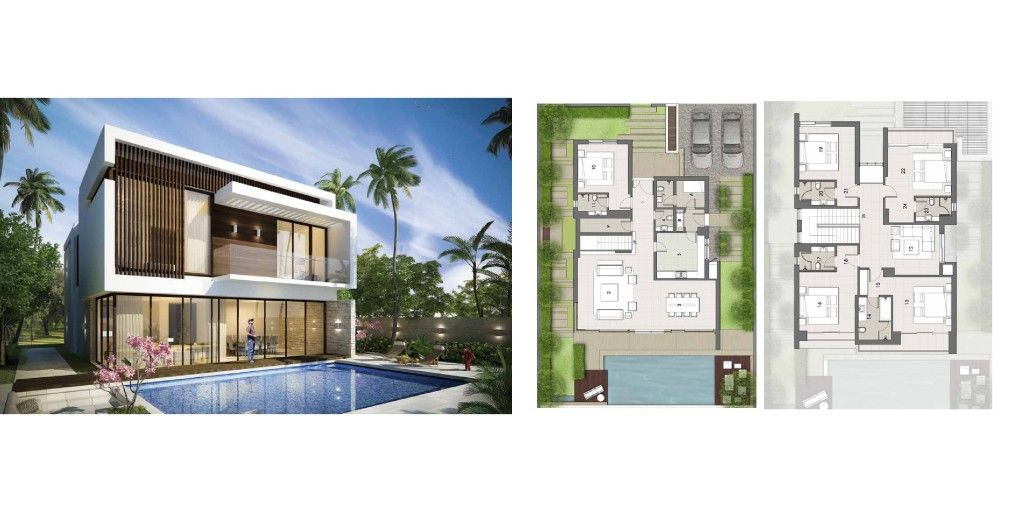 Akoya By Damac Dubai أكويا داماك Mansion Floor Plan Residential House Apartments In Dubai