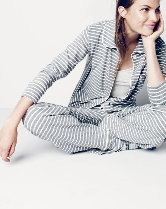 J.Crew women s dreamy cotton pajama set in stripe and whisper jersey cami.   preppychic  methodhome 8ab1a028d3543