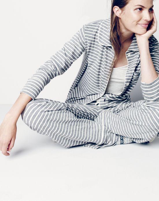 8c14426dae J.Crew women's dreamy cotton pajama set in stripe and whisper jersey ...