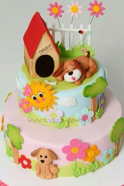 Doggy Cake Bakken Taart Verjaardag Taarten En Taart Ideeen