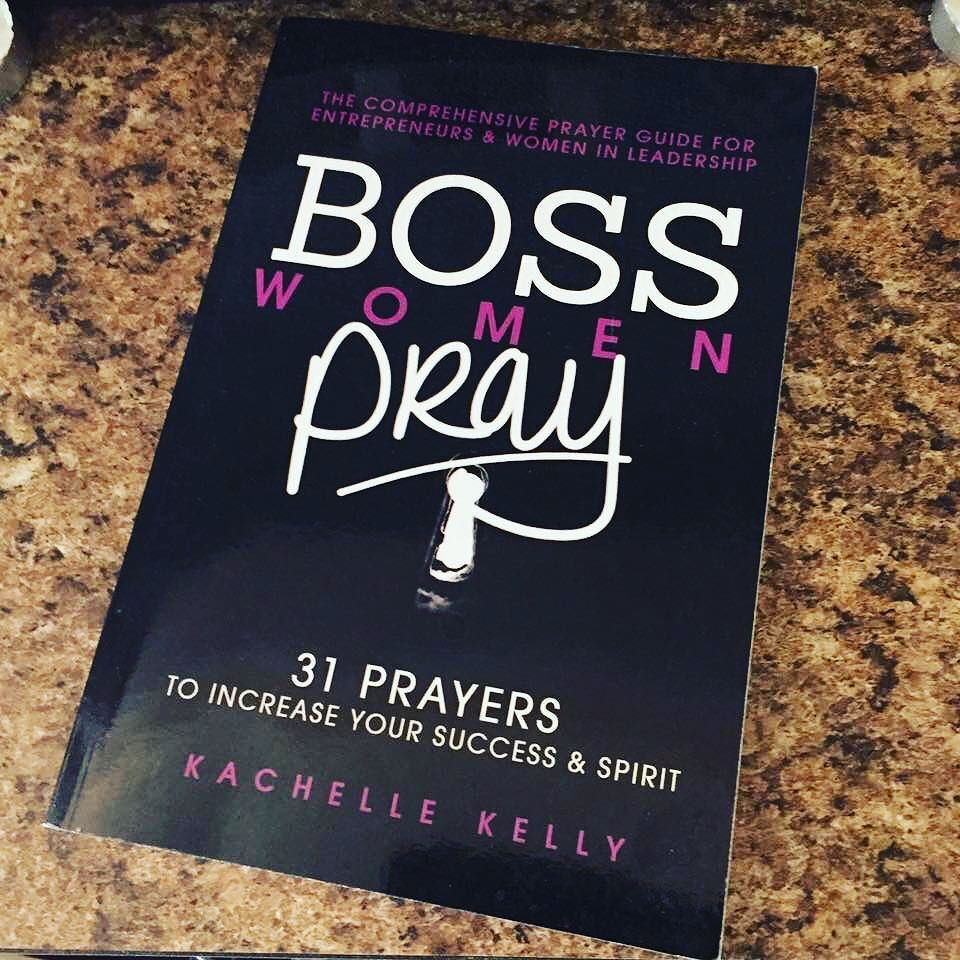 My business is really evolving! Author...speaker...what it next!? Lol! Time to start reading this book again by @kachellekelly #BossWomenPray