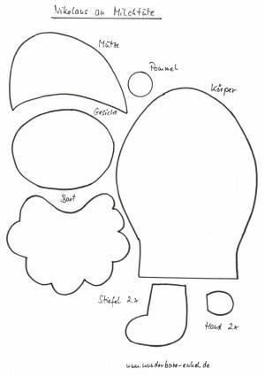 weihnachtsmann basteln vorlagen weihnachten 2019. Black Bedroom Furniture Sets. Home Design Ideas