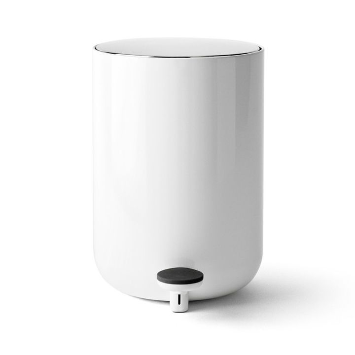 White Bathroom Garbage Cans this one is a more appropriate for dry waste, or a bathroom, than