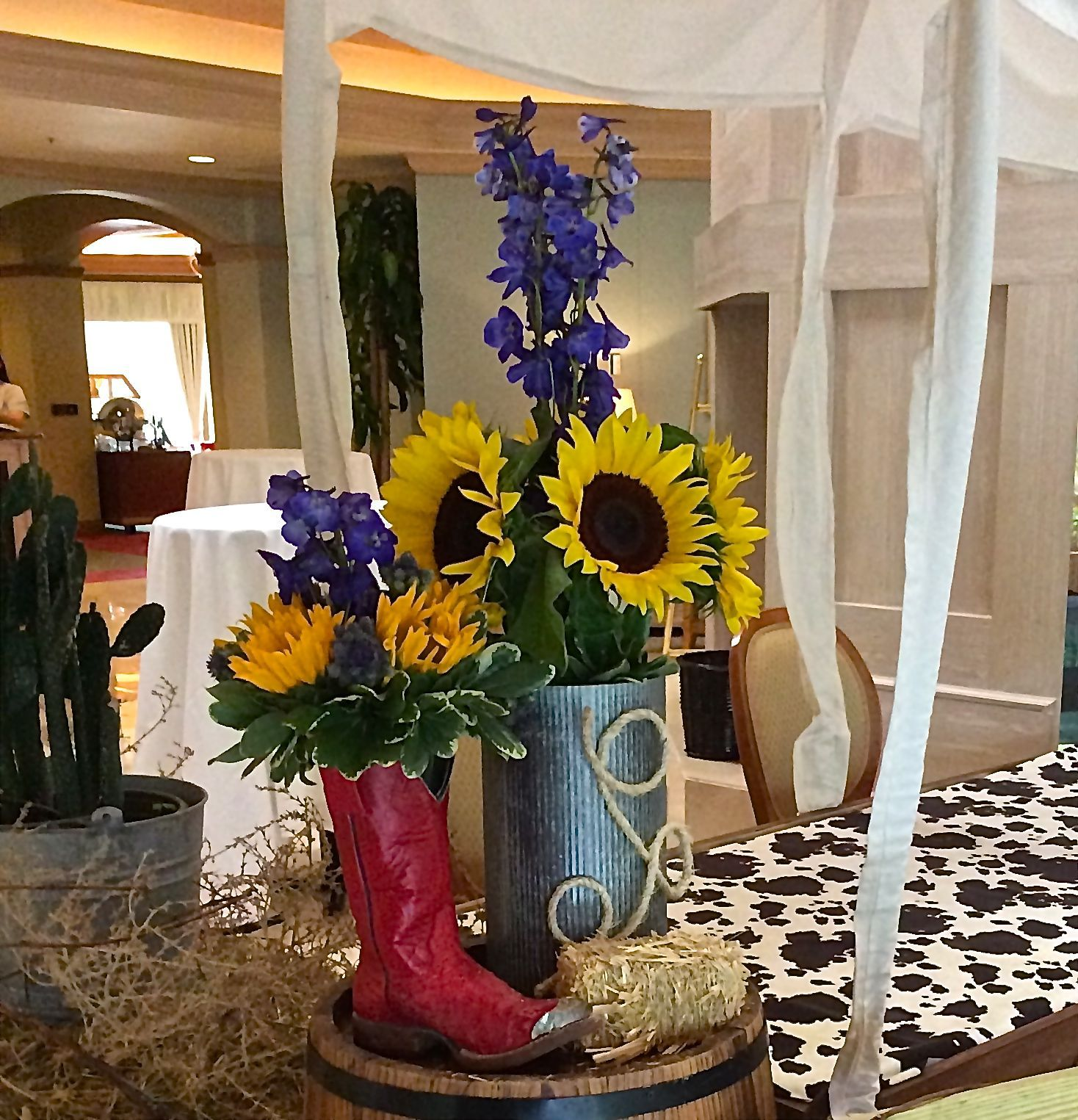 Western Themed Flower Arrangement Designed By Steven