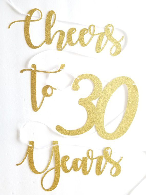 Cheers to 30 Years Banner |Small| 30th Birthday Decor ...