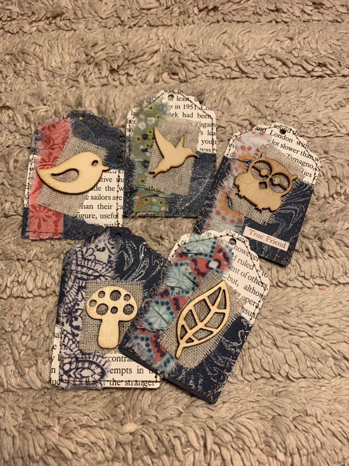 Excited To Share The Latest Addition To My Etsy Shop Small Paper Tags Junk Journal Embellishments Scrapb In 2020 Handmade Tags Handmade Gift Tags Vintage Scrapbook