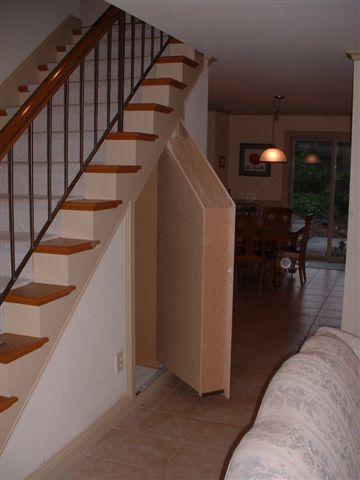 Customer 1 Open Hidden Rooms Secret Rooms Under Stairs