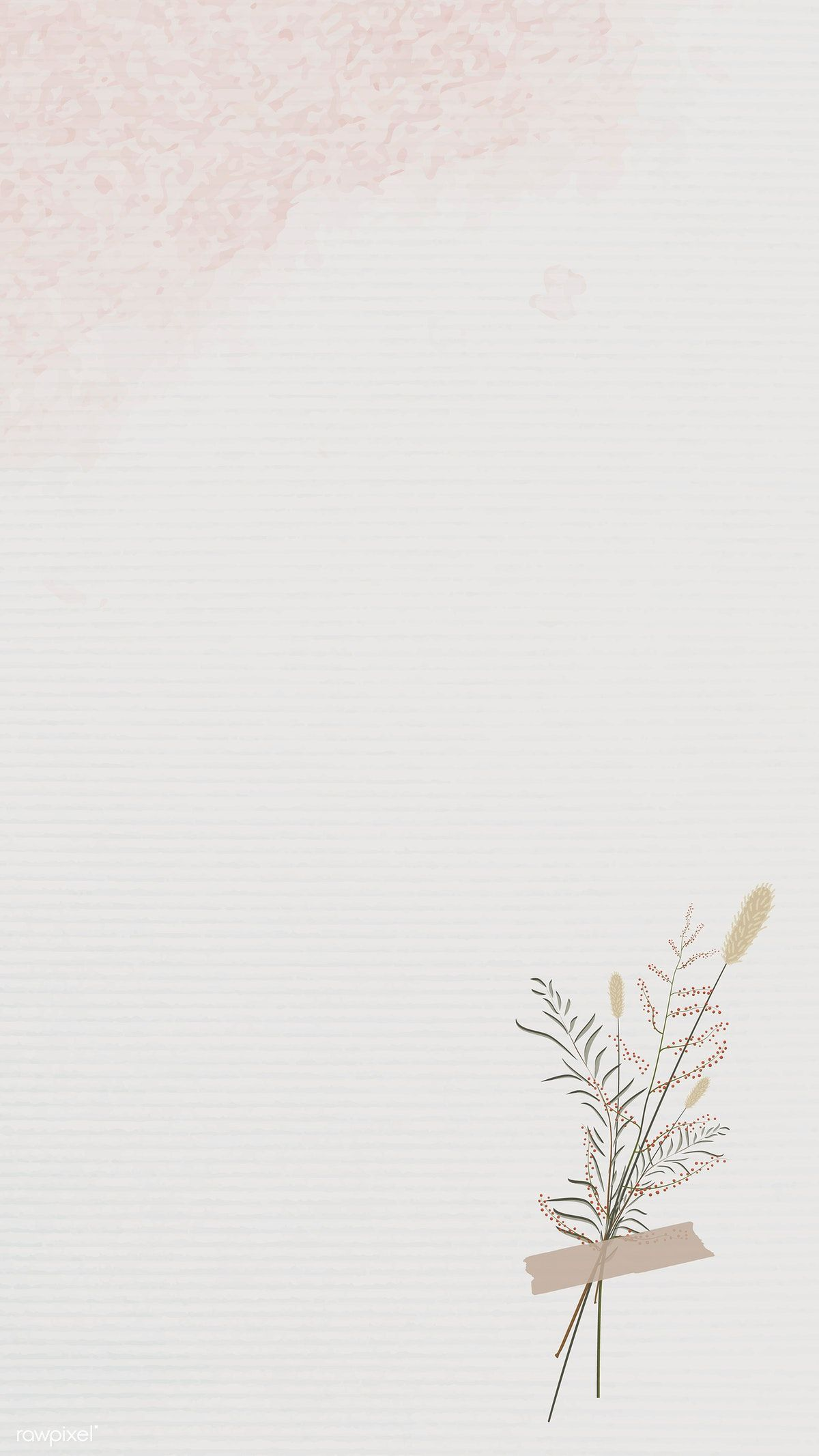 Download premium vector of Vintage leaves design background mobile phone