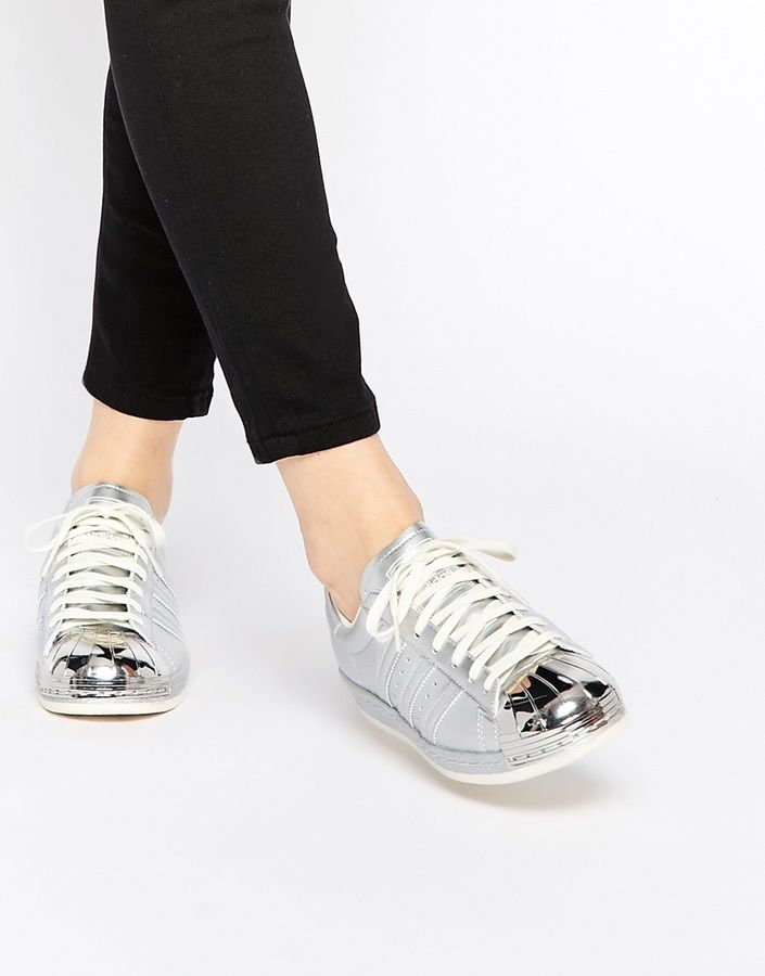 Adidas Superstar 80's Silver Metallic Sneakers | Adidas