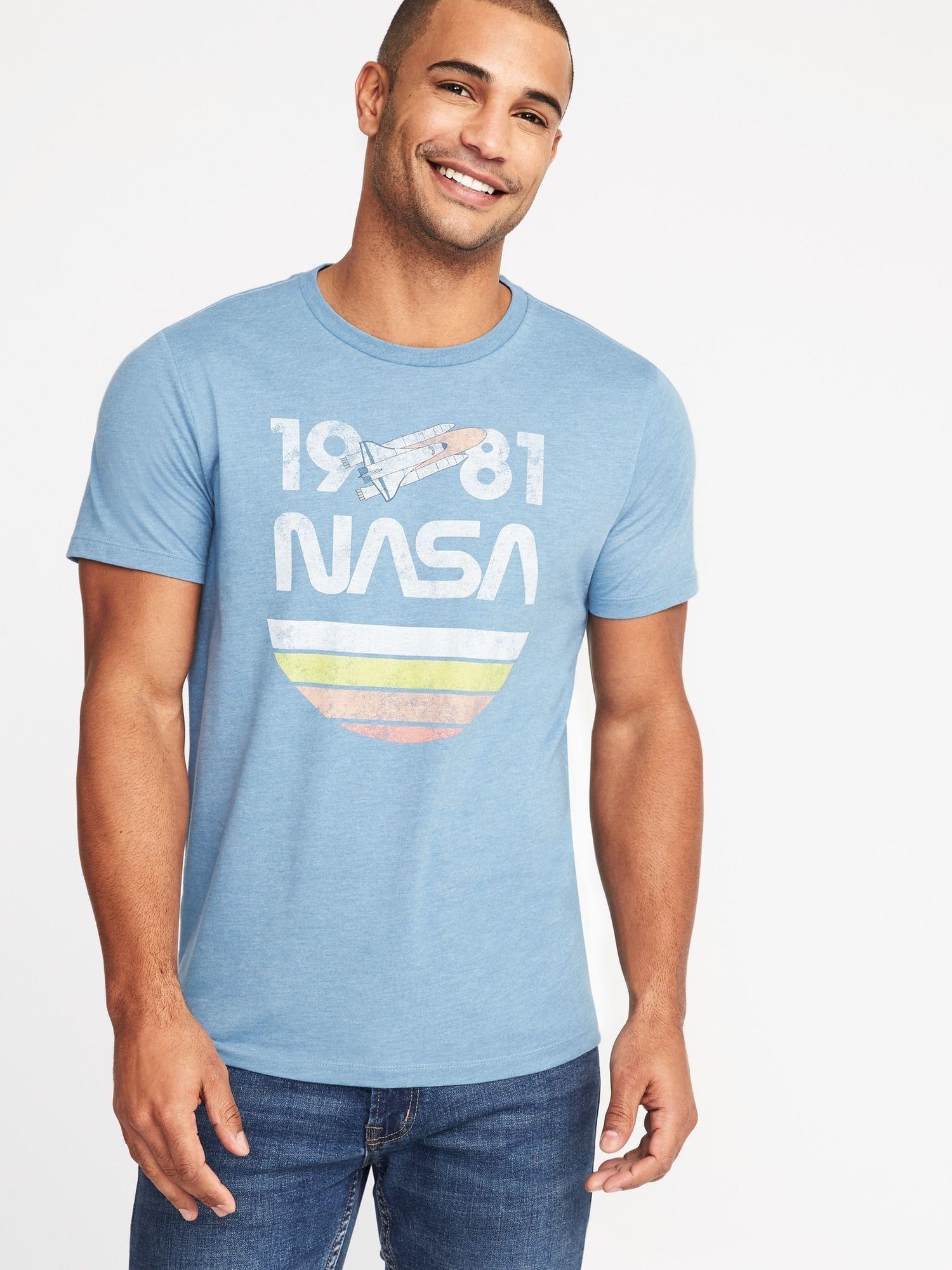 NASA® Retro-Graphic Tee for Men  3293fab69