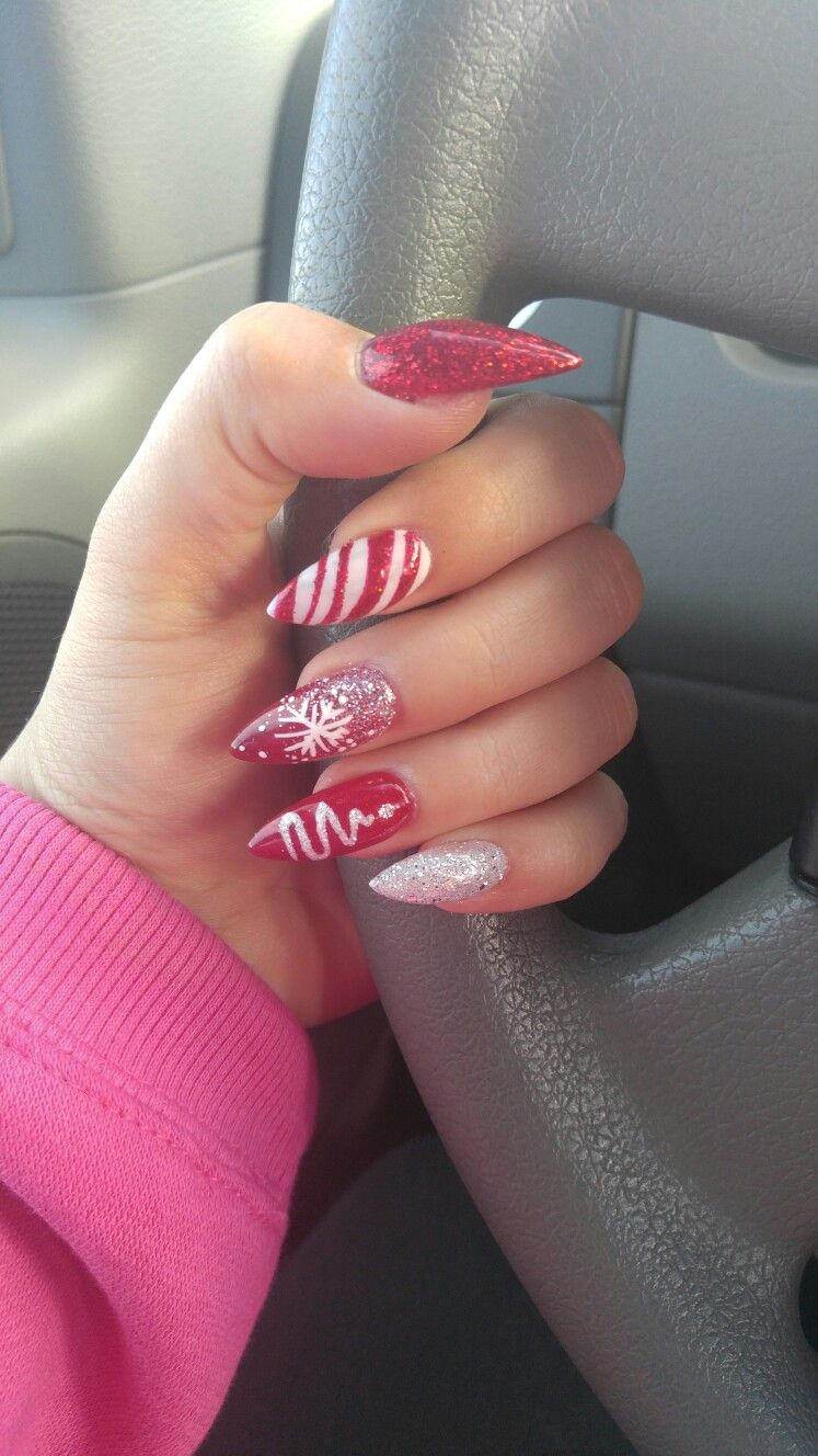 Dorable Stiletto Nails Christmas Image Collection - Nail Art Ideas ...