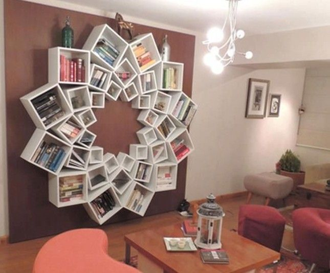 Creative Interiors With Bookshelf Variation As Decor Element In Your Space  Room