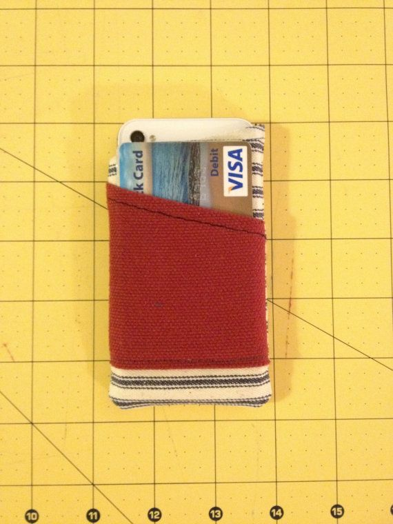 Handmade iPhone 4/4S Sleeve with a built in card pocket!