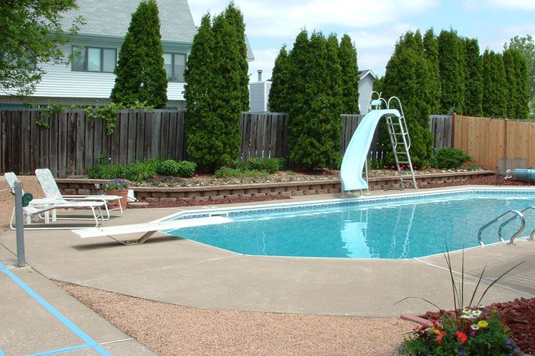 landscape around pool ideas Roselawnlutheran
