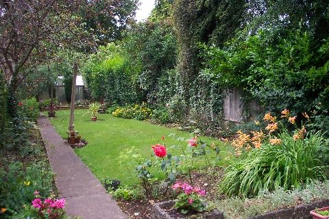An English Suburban Back Garden Dating From The 1940 S Back