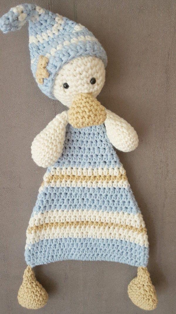 Häkelanleitung Schmusetuch Sam für Babies und Kleinkinder | Crochet ...