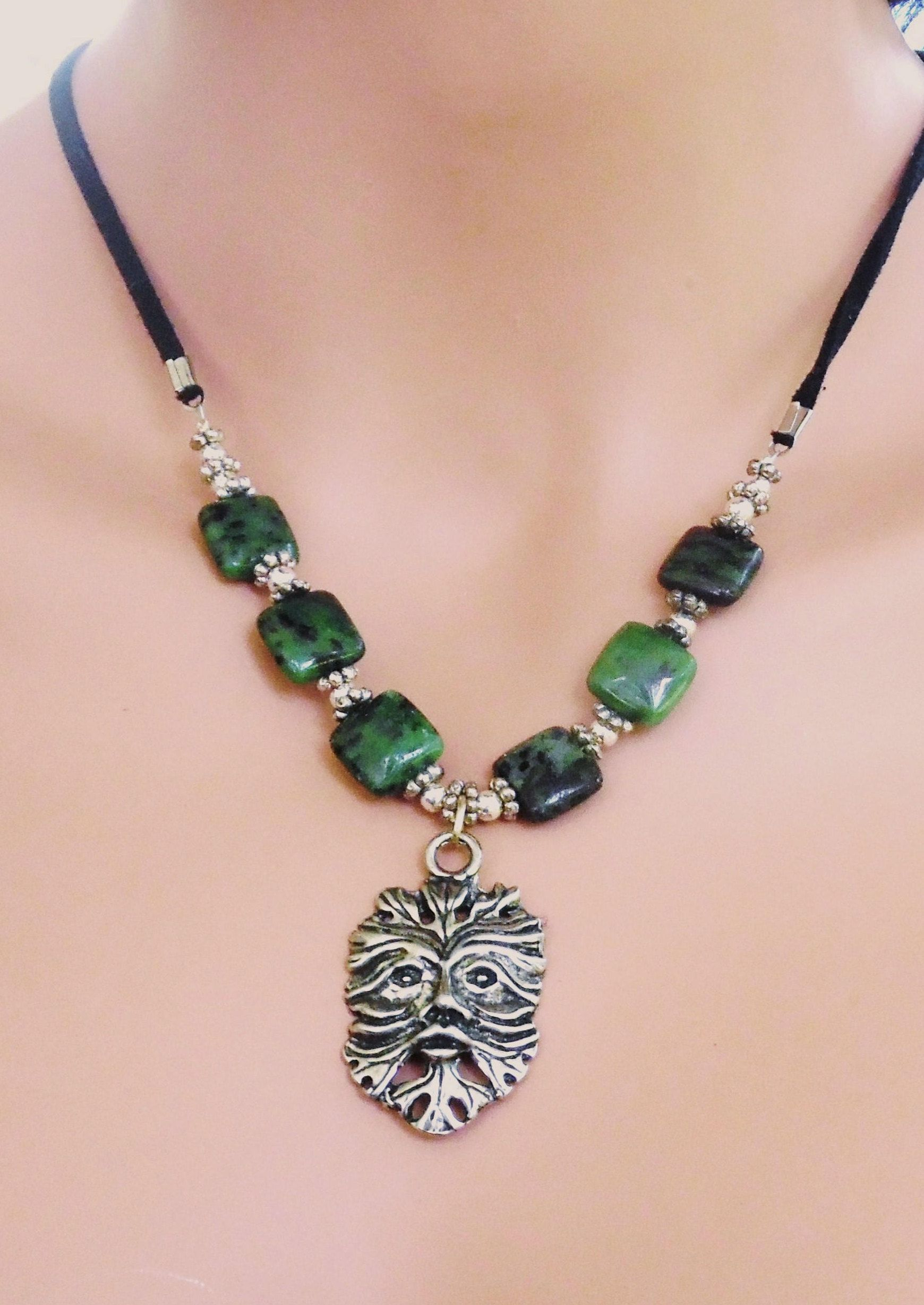 earth fullxfull handmade tones of for zen buddha il necklace compassionate photo spiritual jewelry face earthy pendant statue