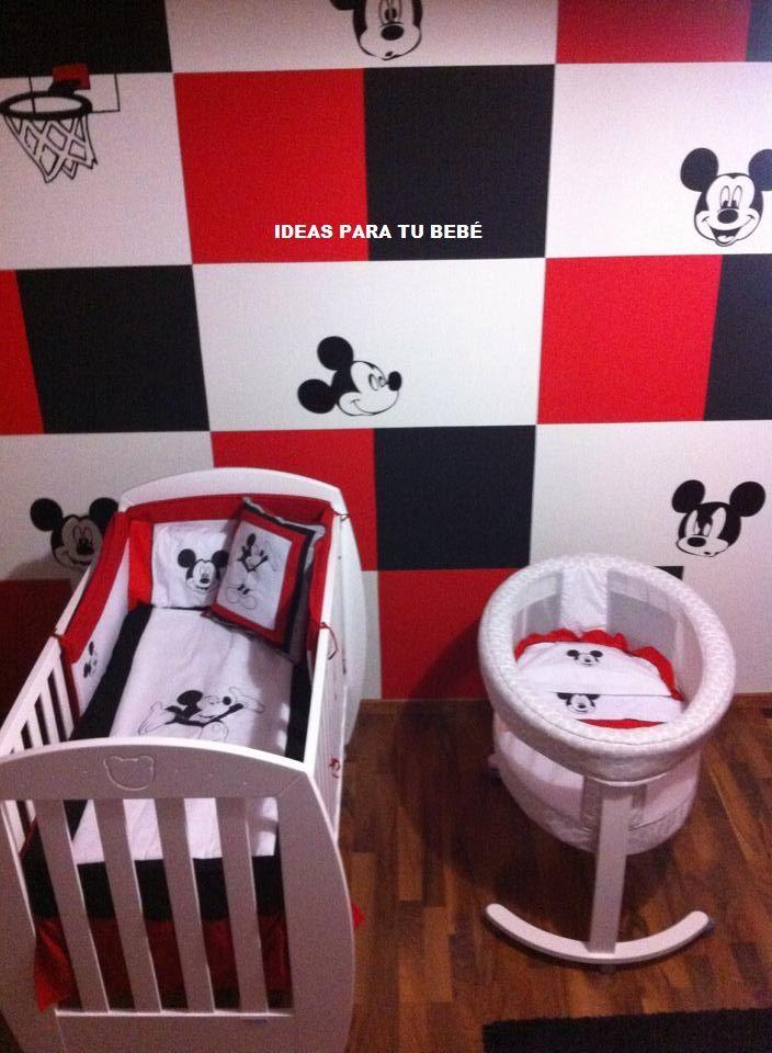 Cuna y Minicuna bebé (diseño mickey mouse) | Ropa de minicuna ...