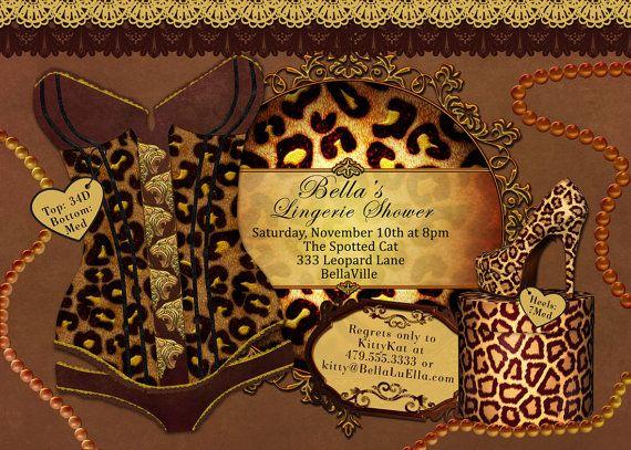 Top 25 ideas about bachelorette party lingerie – Animal Print Party Invitations