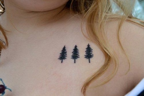 Simple evergreen tree tattoo google search tattoo for Evergreen tree tattoo