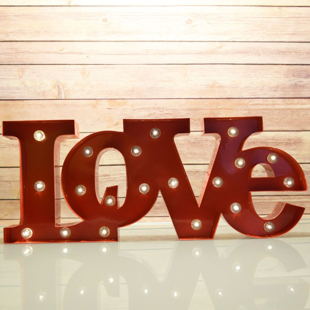 Metal Sign Letters Wholesale Metal Marquee Love Sign In Red With Led Lights Find Unique Diy