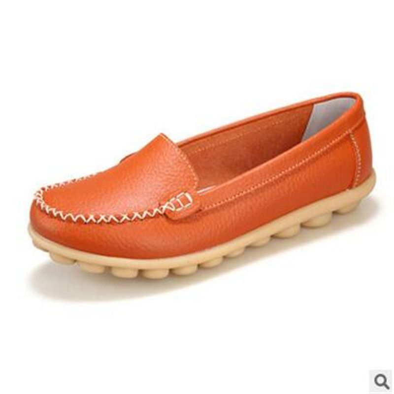 534d5198c10b1 2016Spring and autumn genuine leather female models flats Peas shoes soft  bottom