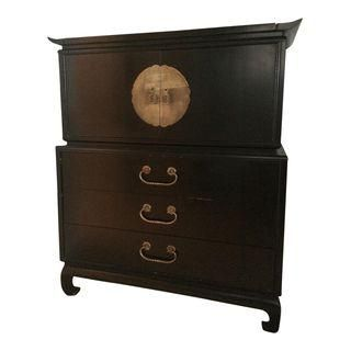 Kent Coffey Amerasia Collection Armoire Mid Century Furniture - Kent coffey bedroom furniture