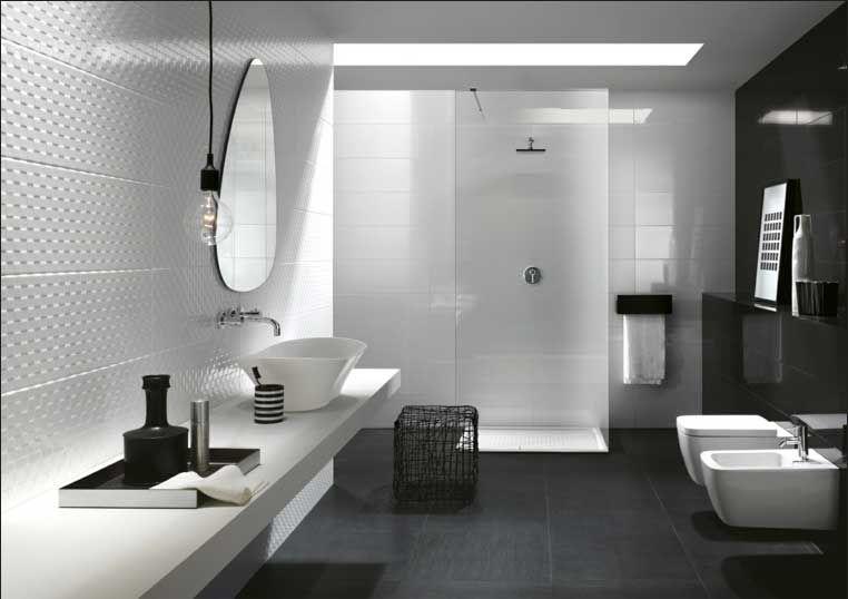 Moderne badezimmergestaltung ~ Moderne badezimmer ideen mit einbaudusche inklusive waschtisch und