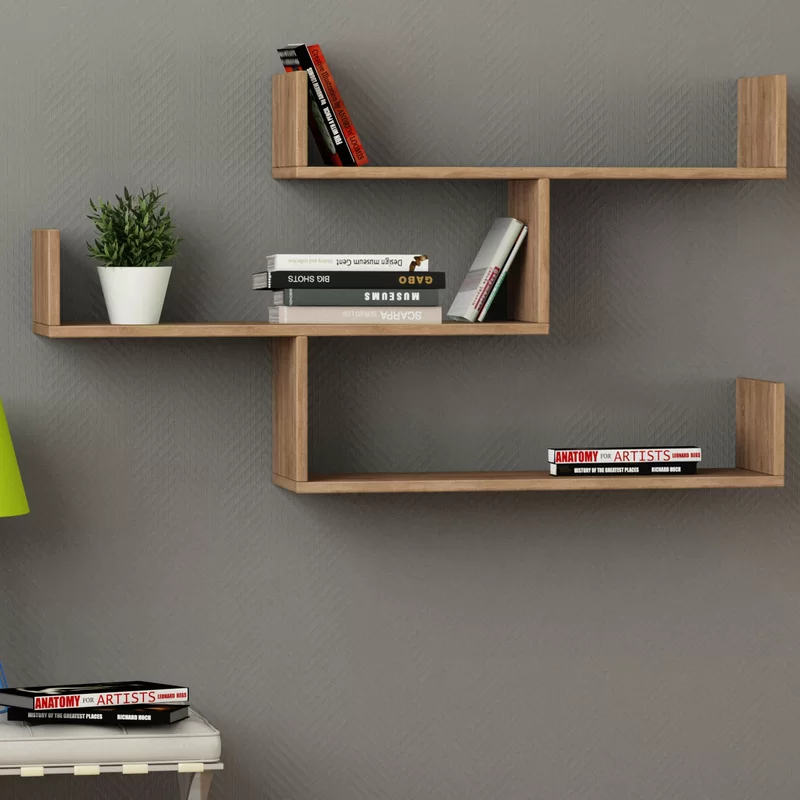 Mckenny Modern Wall Shelf In 2020 Unique Wall Shelves Wall