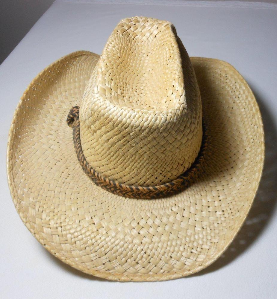 0535878c046e7 Vintage Resistol Stagecoach Self-Conforming Straw Cowboy Western Hat Size 7  Used  fashion  clothing  shoes  accessories  vintage  vintageaccessories  (ebay ...