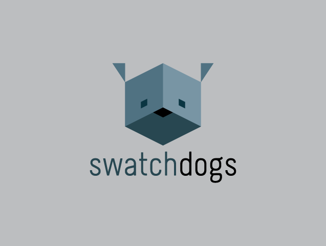 Swatchdogs collective logo.  Designed by Travis Cooper at COOP CO.