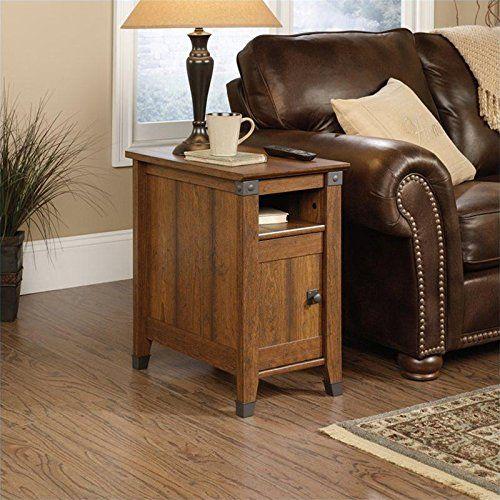 Sauder Carson Forge Side Table, Washington Cherry Finish | Home Style Studio