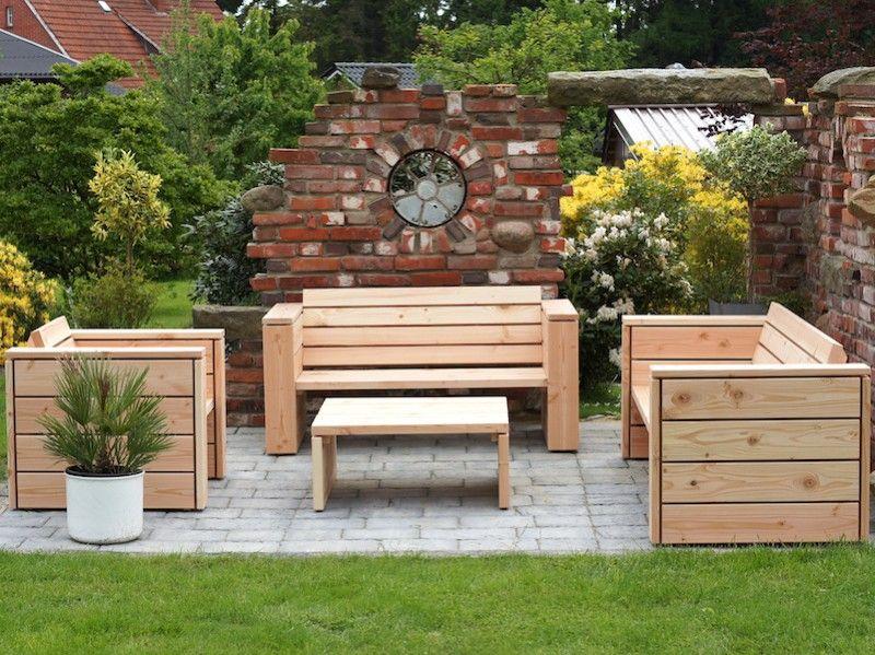 Loungemöbel Holz Set 3
