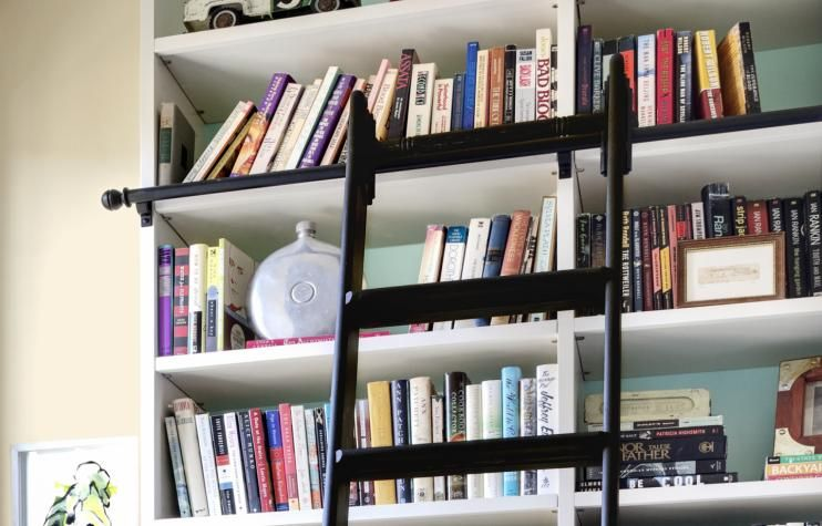 How to Build a Rolling Library Ladder Library ladder