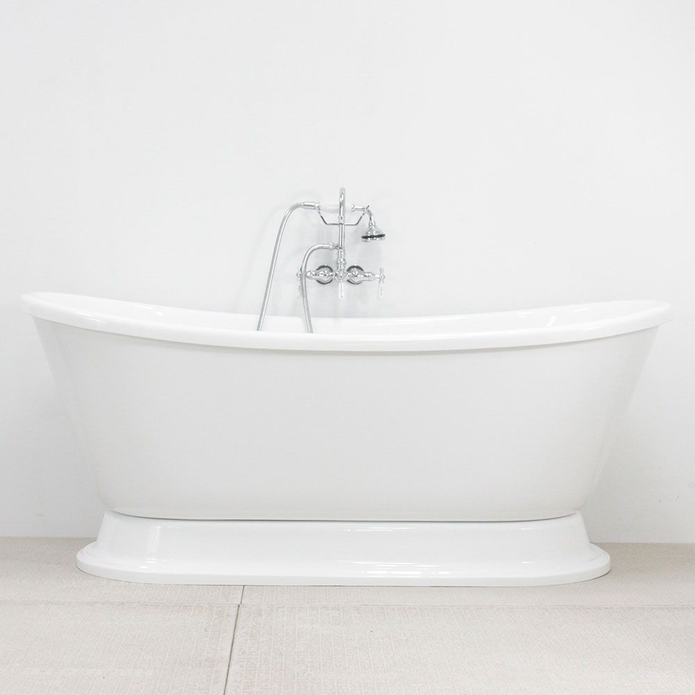 VTABT73 73\' AIR Massage Whirlpool French Bateau Tub Package with 24 ...