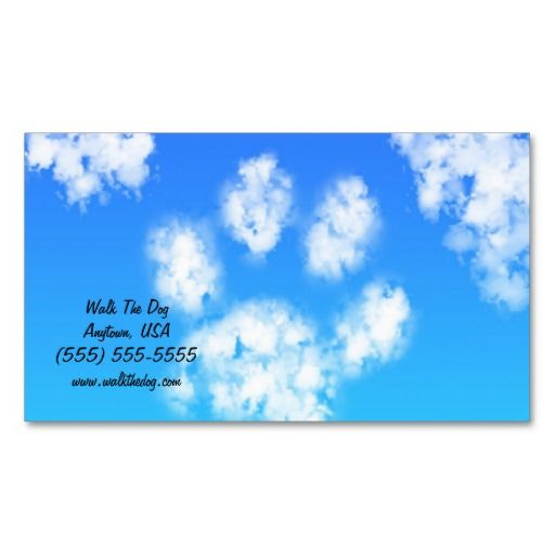 Dog Walk Pet Sitter Business Cards Paw Print Cloud Zazzle Com Pet Sitter Business Pet Sitters Dog Sitting Business
