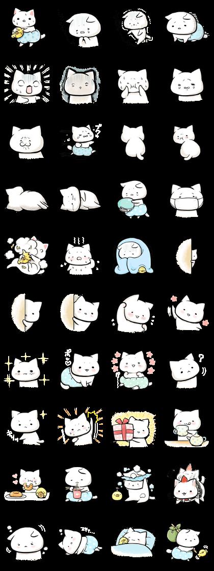 Negative Cat Syobonyan Line Creators Stickers Sticker In 2018