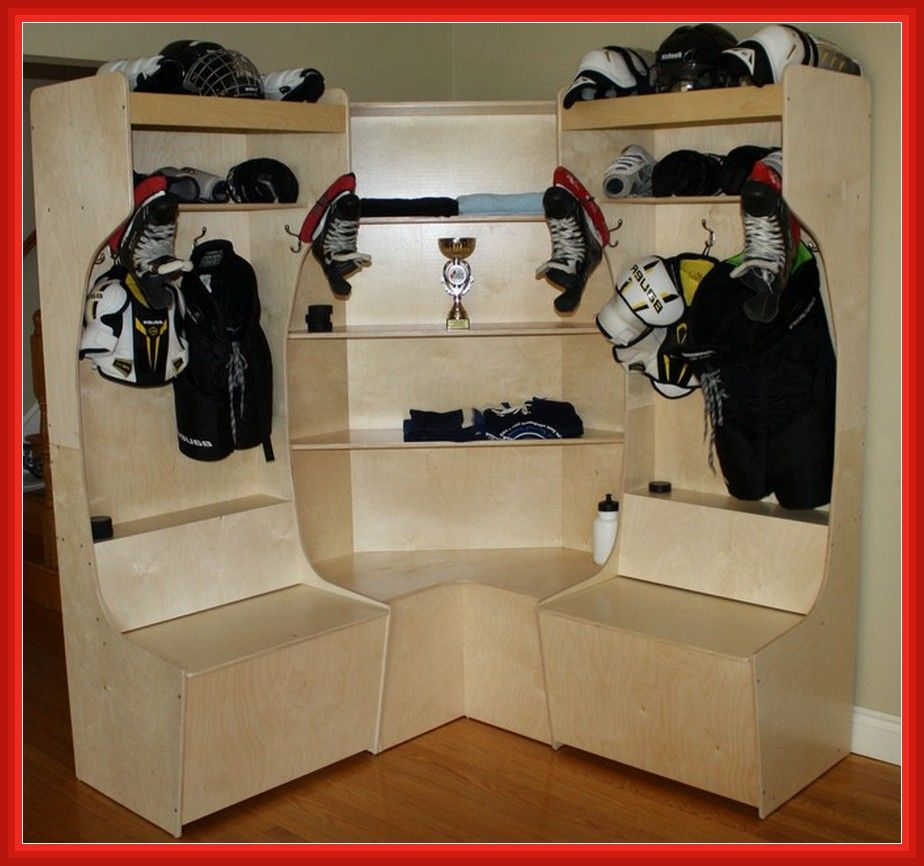Hockey Equipment Drying Rack Homemade Hockey Room Hockey Equipment Hockey Bedroom