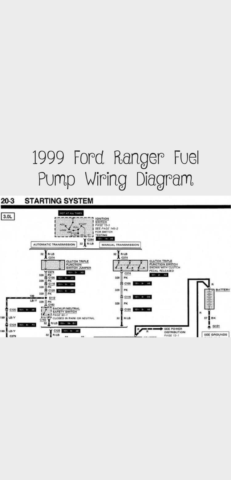 1999 Ford Ranger Fuel Pump Wiring Diagram In 2020