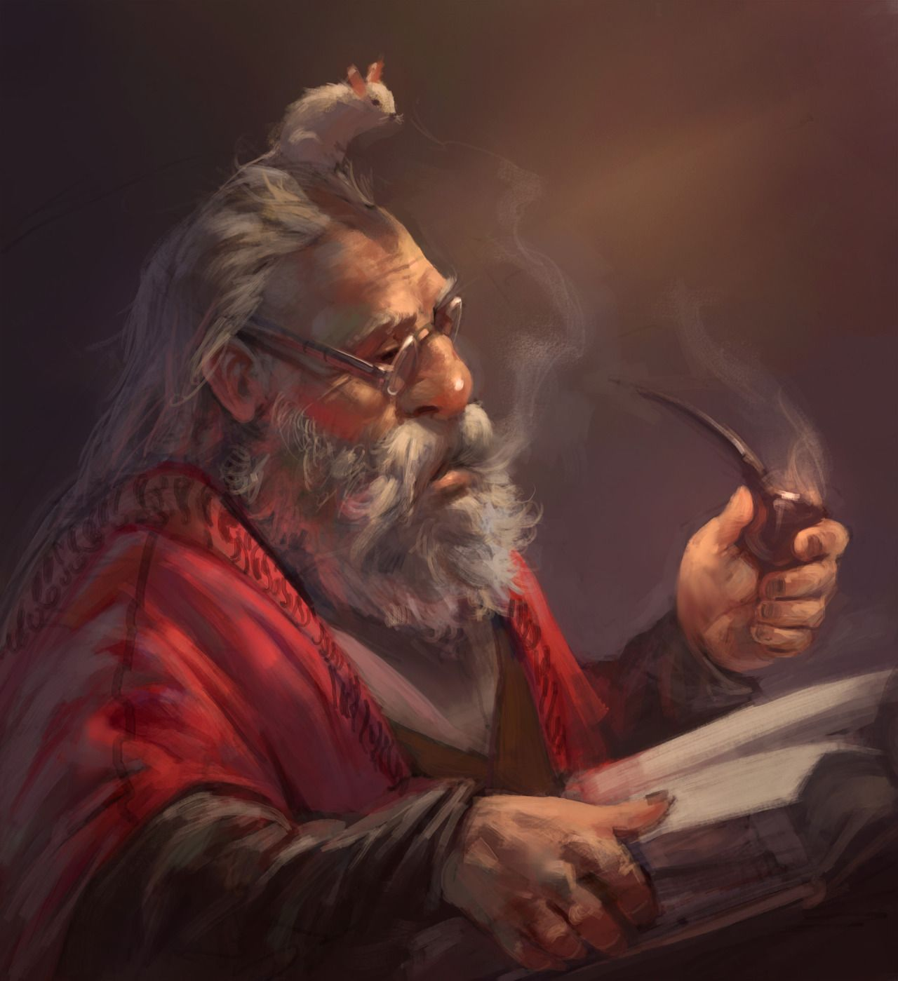 Fantasy Art Dwarven Nobility Unarmored
