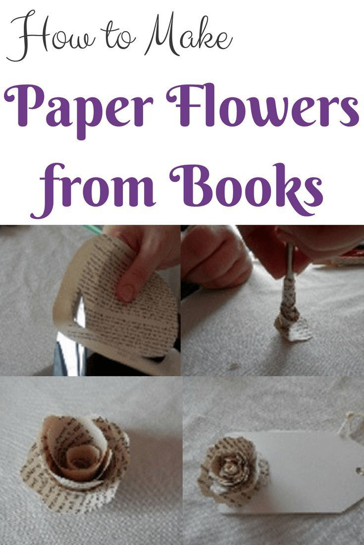 How To Make Paper Flowers From Books Pinterest Flowers Book