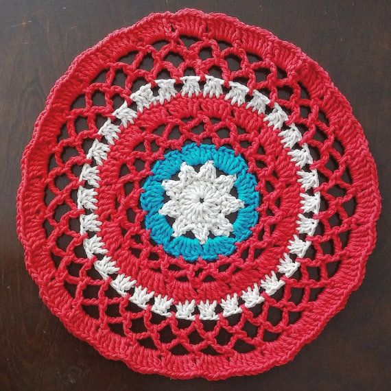Buy It Here: Patriotic Mandala by SassyCandidCrochet on Etsy