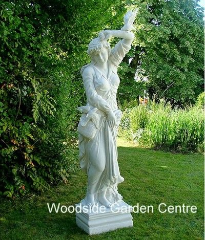 Large Marble Resin Melanie Female Statue Garden Ornament | Woodside ...