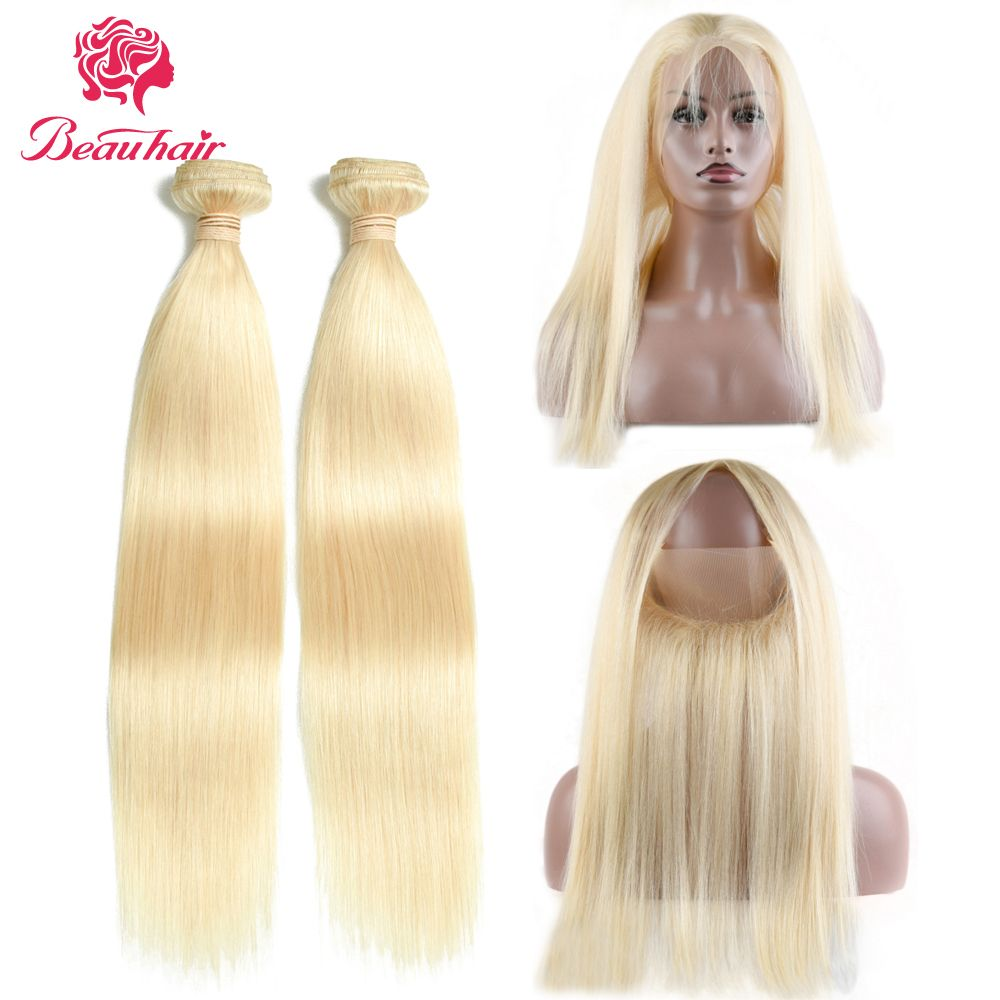 Beau Hair 613 Blonde Malaysian Straight Hair Weave Bundles 10 24