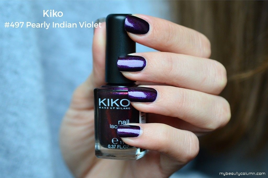 Kiko Milano Nail Polish 479 Pearly Indian Violet Swatch ...