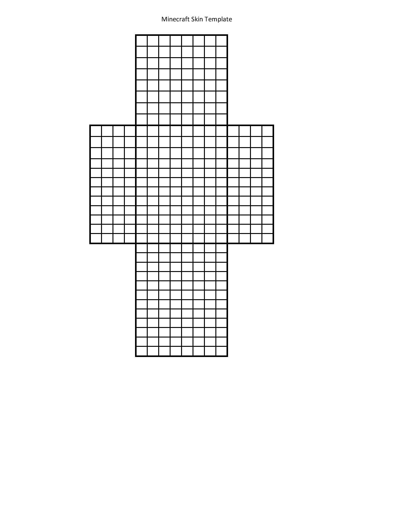 Printable template for Minecraft skin creation. Use markers or