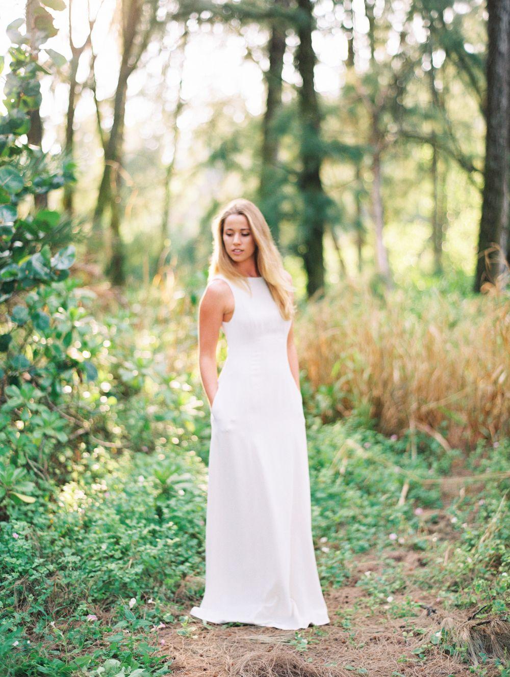 Kylie Martin Lydie Gown #film #filmphotography #filmsnotdead #wedding #weddingphotographer #weddingphotography #bridal #bride #model #weddingdress #simpleweddingdress #weddingportraits #weddingprotrait #hawaii #hawaiian #couple #love #engagement