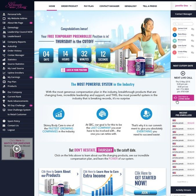 GUARANTEED PRIZE *** - New Website Template for MLM Company - NEW