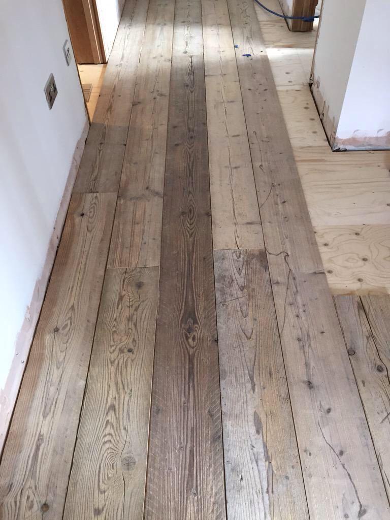 Scaffold board flooring  Home  Narrowboat interiors