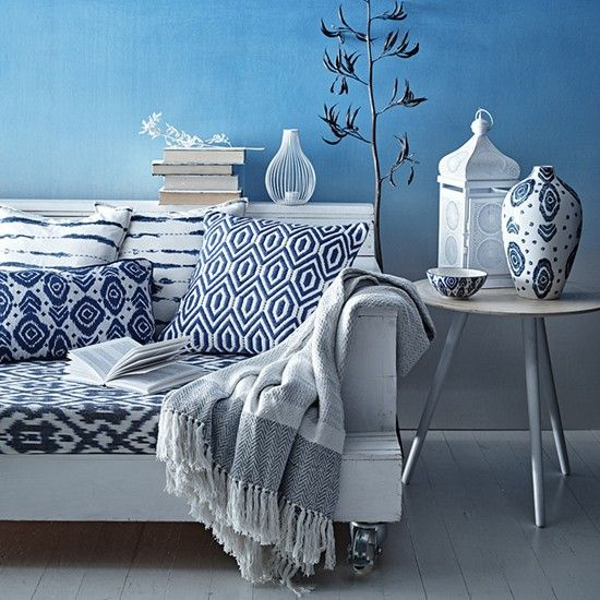 Moroccan Blue Homeware Collection Living Room Accessories By Sainsburys